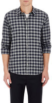 Barneys New York Men's Plaid Cotton Shirt-DARK GREY, BLUE, LIGHT GREY