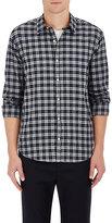 Barneys New York Men's Plaid Cotton Shirt