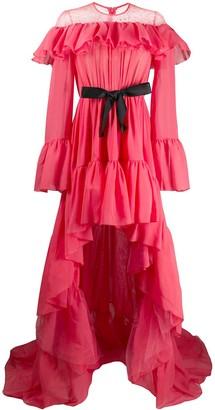 Giambattista Valli Asymmetric Ruffled Gown
