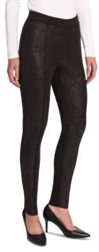 Jones New York Foiled Ponte-Knit Leggings
