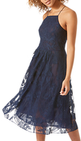 Jigsaw Embroidered Halter Dress, Blue