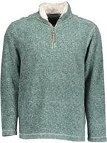 True Grit Aqua Plaid Half-Zip Pullover