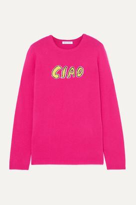 Bella Freud Ciao Intarsia Cashmere Sweater - Pink