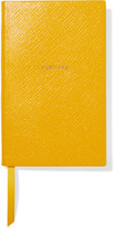 Smythson Panama Busy Bee Textured-leather Notebook - Yellow