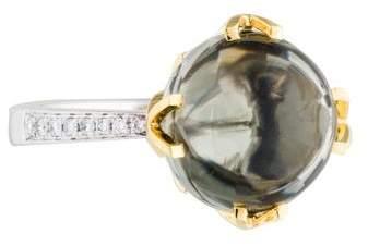 Frederic Sage 18K Diamond & Prasiolite Jelly Bean Ring