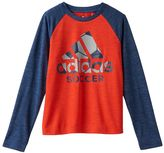 adidas Boys 4-7 climalite Space-Dyed Tee
