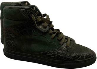 Balenciaga Green Leather Trainers