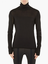 Y-3 Sport Black Wool-Blend Turtleneck Sweater