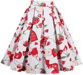 OFEEFAN Vintage Retro Casual Summer Swing Skirts S