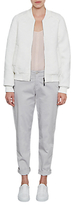 French Connection Hoffman Stitch Bomber Jacket, White