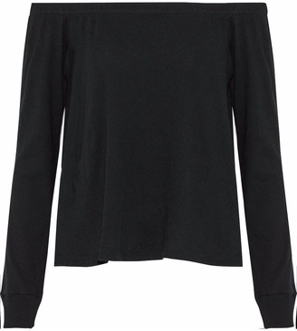 Enza Costa Off-the-shoulder Cotton And Cashmere-blend Jersey Top
