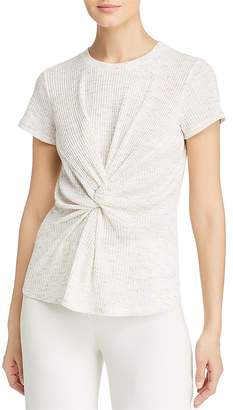 Kenneth Cole Ribbed Knot-Front Tee