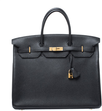 Hermes Black Togo Leather Gold Hardware Birkin 40 Bag