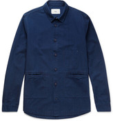 Folk Cotton-chambray Shirt - Indigo