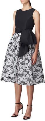 Carolina Herrera Floral Organza A-Line Dress