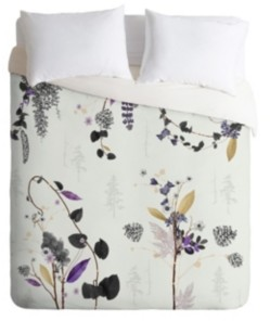 Deny Designs Iveta Abolina Woodland Dream Twin Duvet Set Bedding