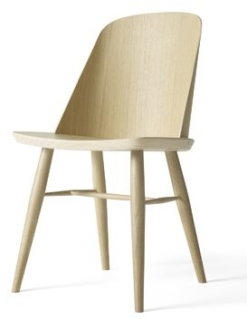 Menu Synnes Solid Wood Dining Chair Color: Natural Oak