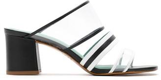 Blue Bird Shoes Plastic block heel mules