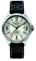 Hamilton Khaki Aviation Auto Stainless Steel & Leather Strap Watch