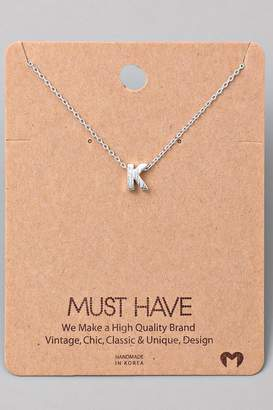 Fame Accessories K-Initial Pendant Necklace