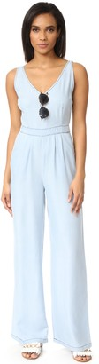 Cupcakes And Cashmere Women's Deven Washed Chambray Jumpsuit with Back Cutout 10