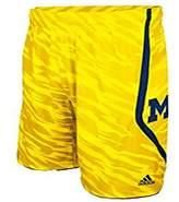 adidas Michigan Wolverines Camo Shorts Youth