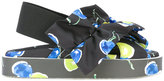 MSGM blueberry print sling-back sandals - women - Cotton/Nylon/rubber - 38