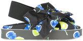 MSGM blueberry print sling-back sandals