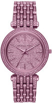 Michael Kors Darci Purple IP Bracelet Watch with Crystals