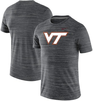 Nike Men's Black Virginia Tech Hokies Team Logo Velocity Legend Performance T-Shirt