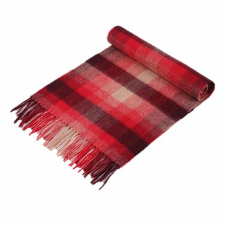 Uk Stone UK_Stone 100% Cashmere Wool Scarf for Man Classic + Plaid Checkered Scarf + Decorated with Tassels Soft and Warm Winter Scarf_(Free Shipping)