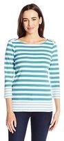 Pendleton Women's Corina Stripe Rib Tee