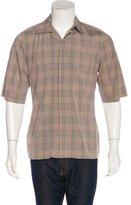 Prada Plaid Button-Up Shirt