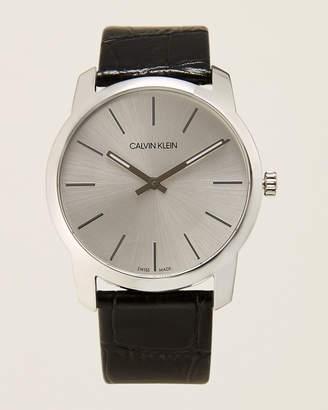 Calvin Klein K2G221C6 Silver-Tone & Black City Watch