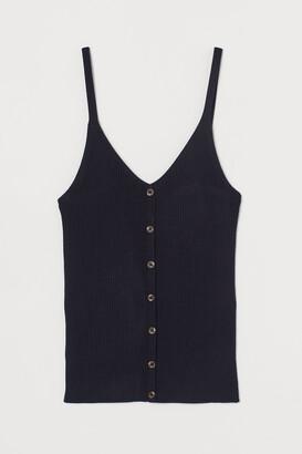 H&M Rib-knit strappy top