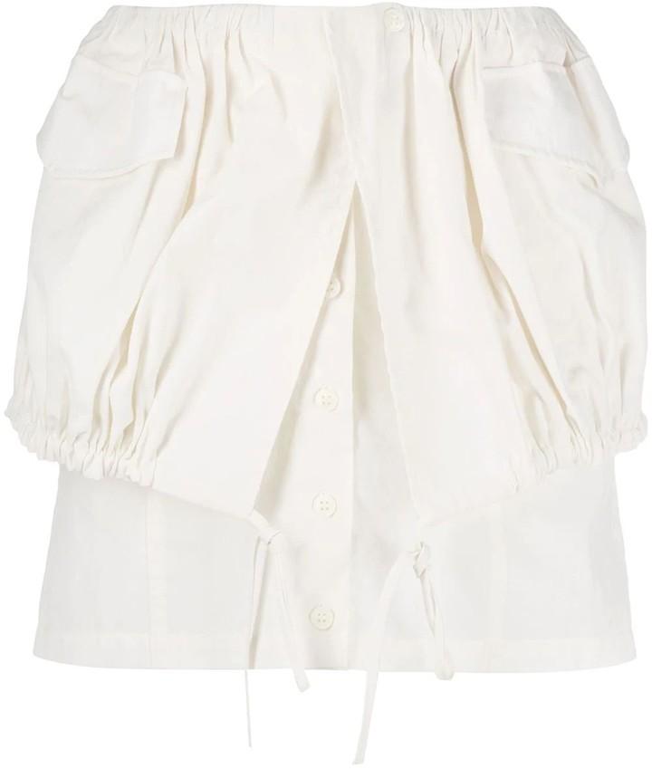 Jacquemus White La Jupe Cueillette Courte Skirt