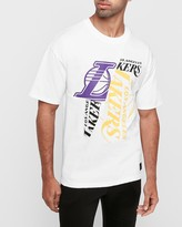 Express Los Angeles Lakers Nba Pieced Logo Heavyweight T-Shirt