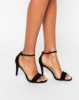 New Look Suedette Barely There Heeled Sandals