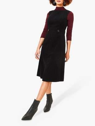 Oasis Cord Split Front Dress,Bblack
