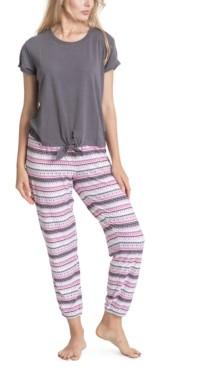 Muk Luks Printed 2pc Pajama Set