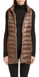 Herno Long Fitted Down Vest with Removable Hood