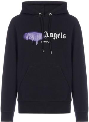 Palm Angels Sprayed Logo Hoodie