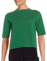 DKNY Crewneck Elbow-Length Sleeve Sweater