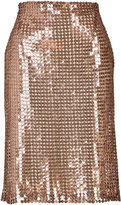 Marios Schwab Sequined Pencil Skirt