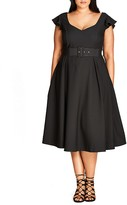 City Chic Flirty Flutter Dress