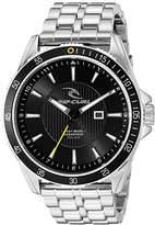 Rip Curl Men's 'DVR-100 SSS' Quartz Stainless Steel Sport Watch, Color:Silver-Toned (Model: A2873-BLK)