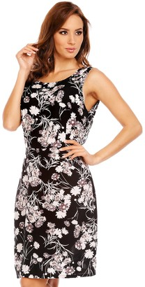 Mia Suri Ladies A-Line Cotton Backless Summer Dress Black/Grey/White Floral Size 12