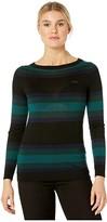 Lacoste Long Sleeve Color-Block Stripe Sweater (Black/Navy Blue/Sinople/Beeche) Women's Clothing
