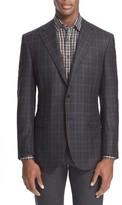 Canali Men's Classic Fit Plaid Wool & Cashmere Sport Coat
