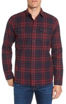 Grayers Men's Hampstead Heritage Trim Fit Plaid Flannel Sport Shirt